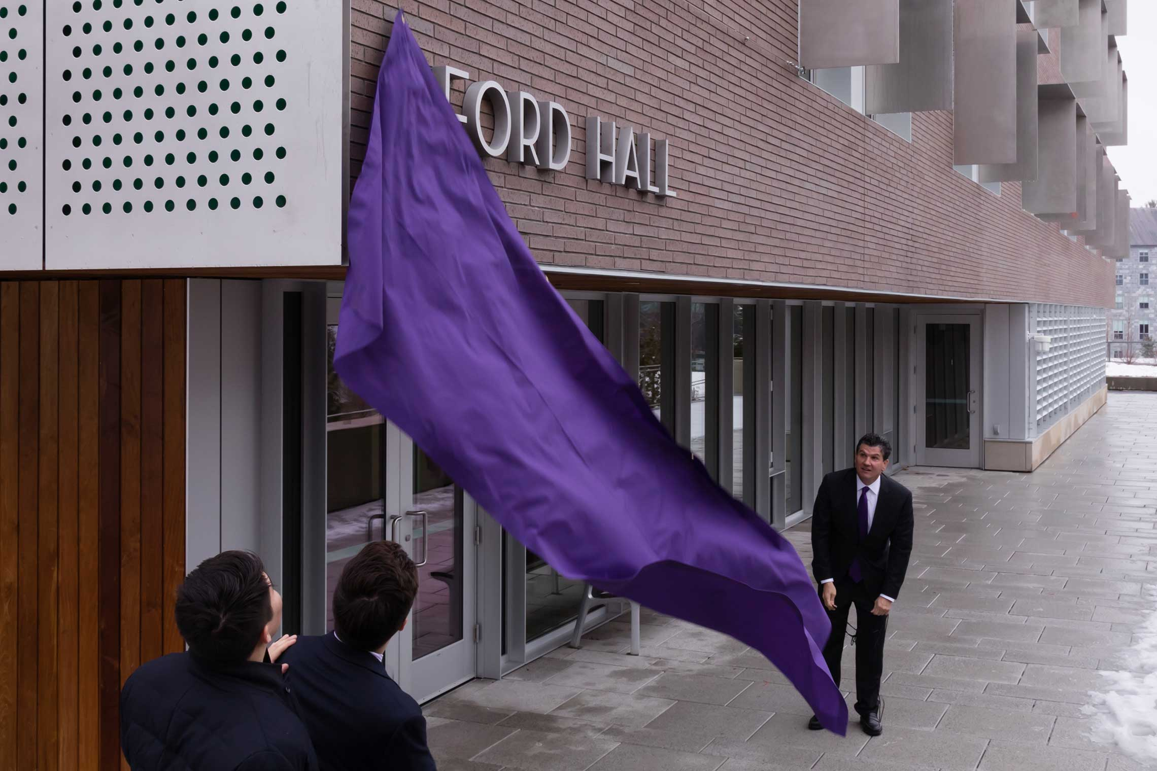 The dedication of Ford Hall