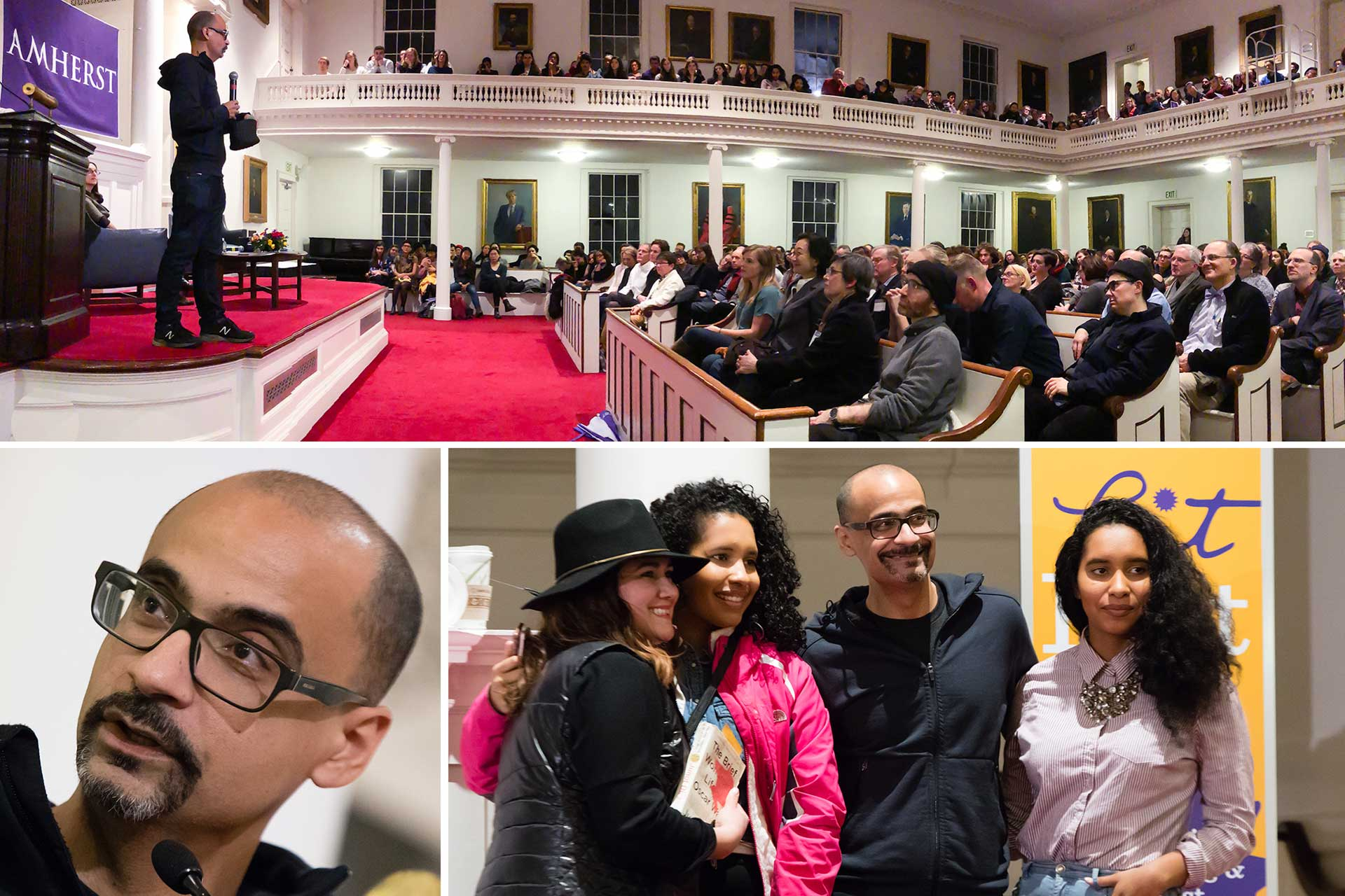 Junot Diaz in Johnson Chapel
