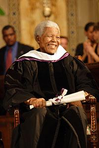 Mandela holding diploma