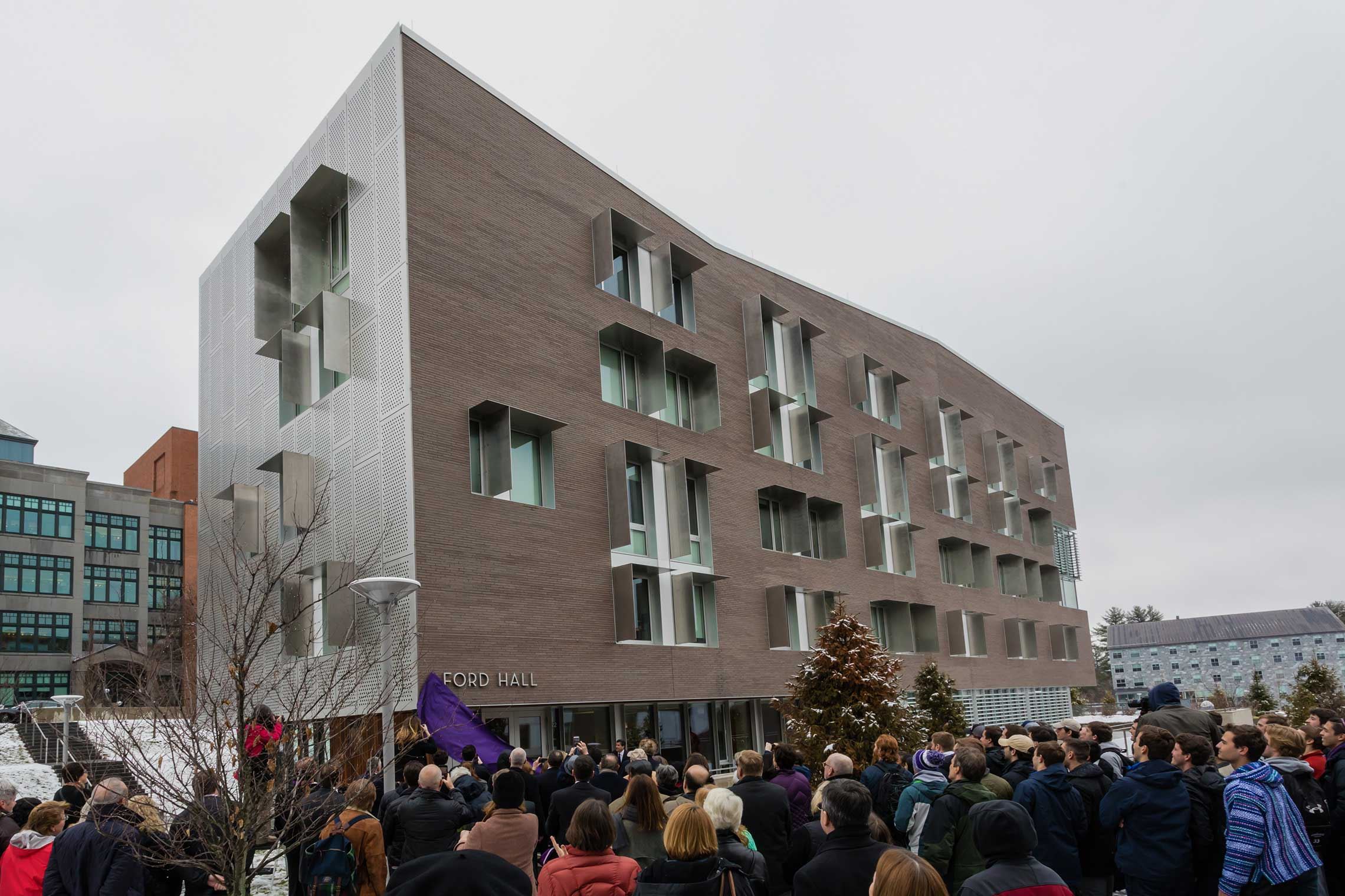 Ford Hall dedication ceremony