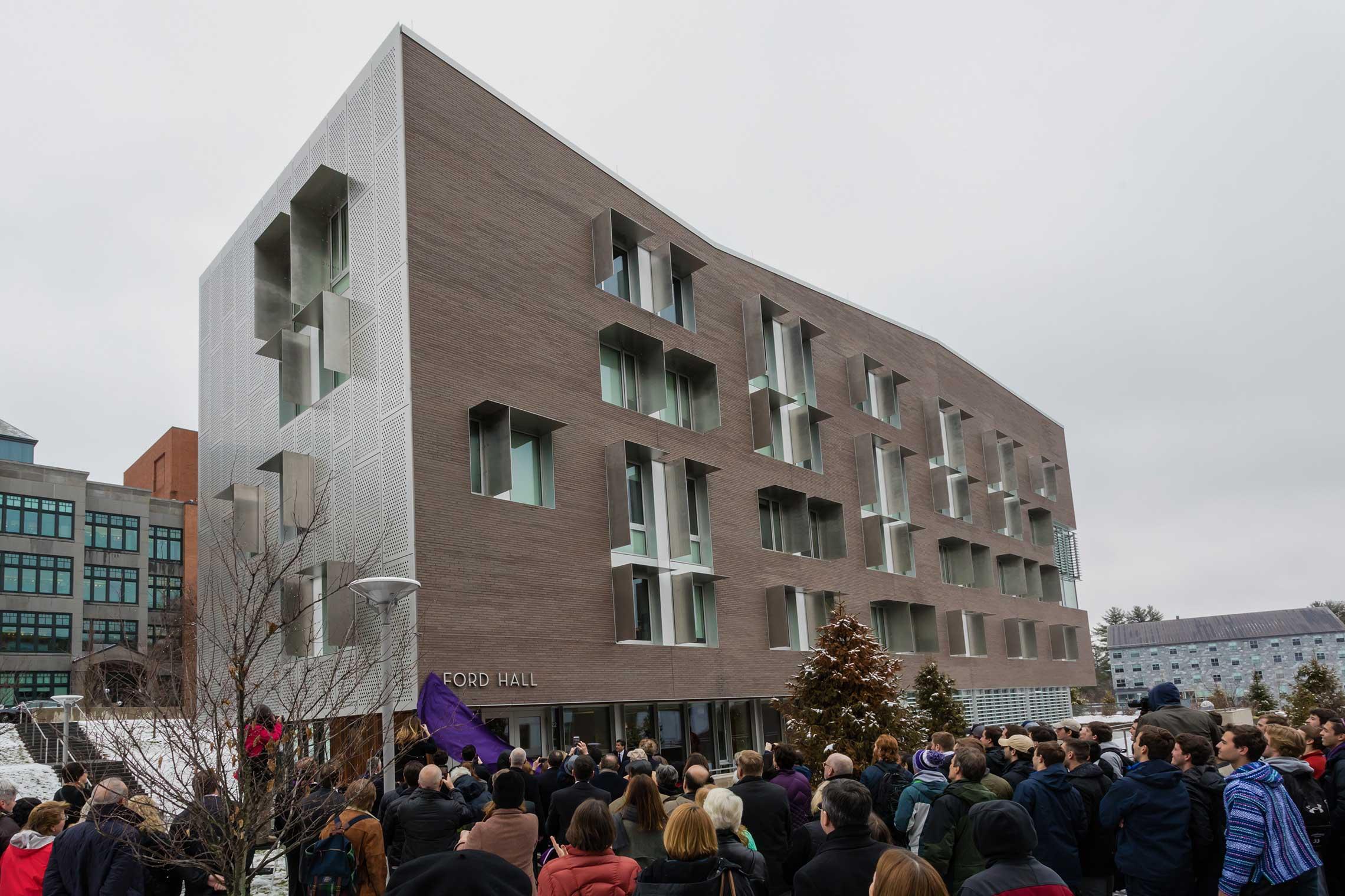 Ford Hall dedication ceremony