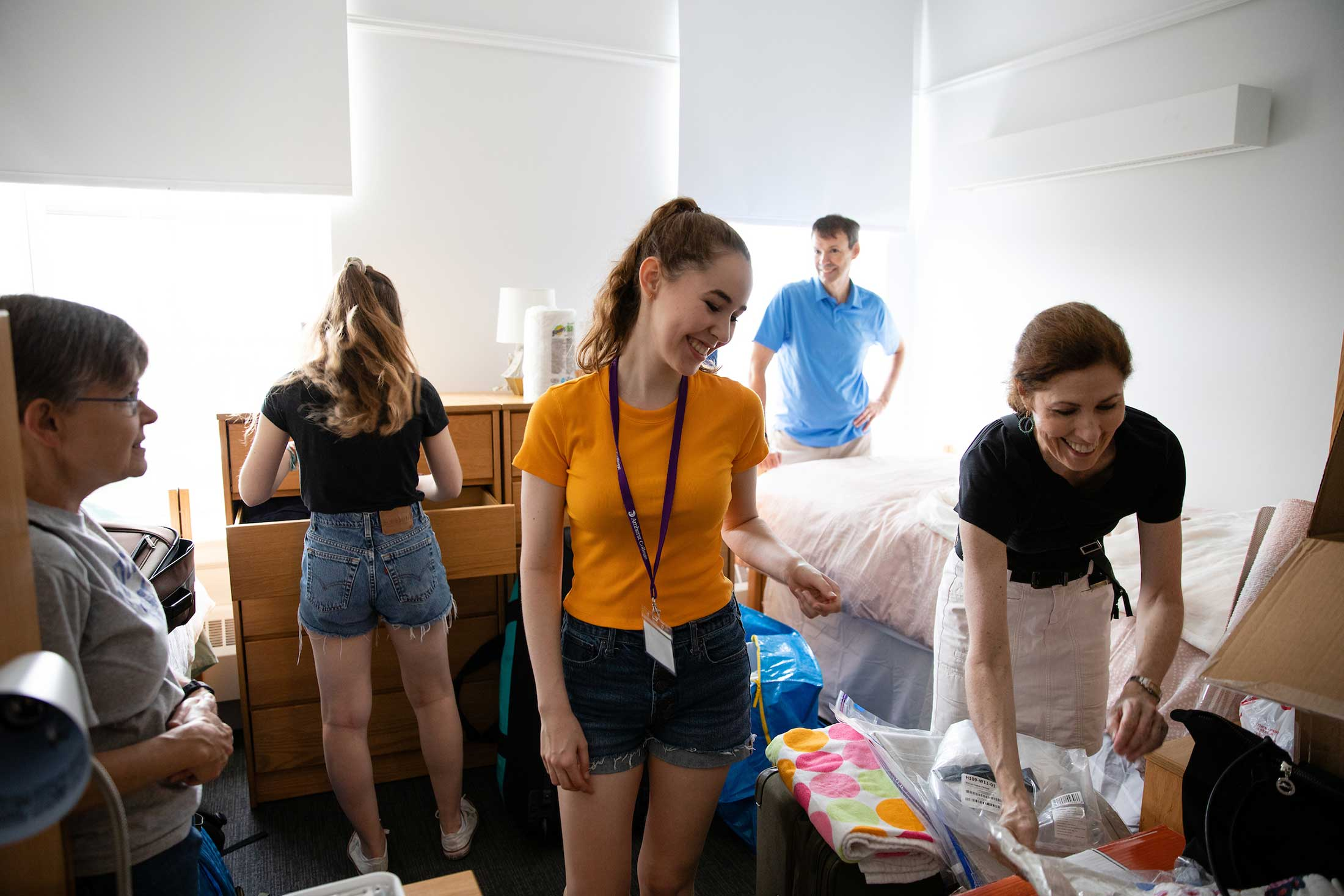 New roommates unpacking in their residence hall