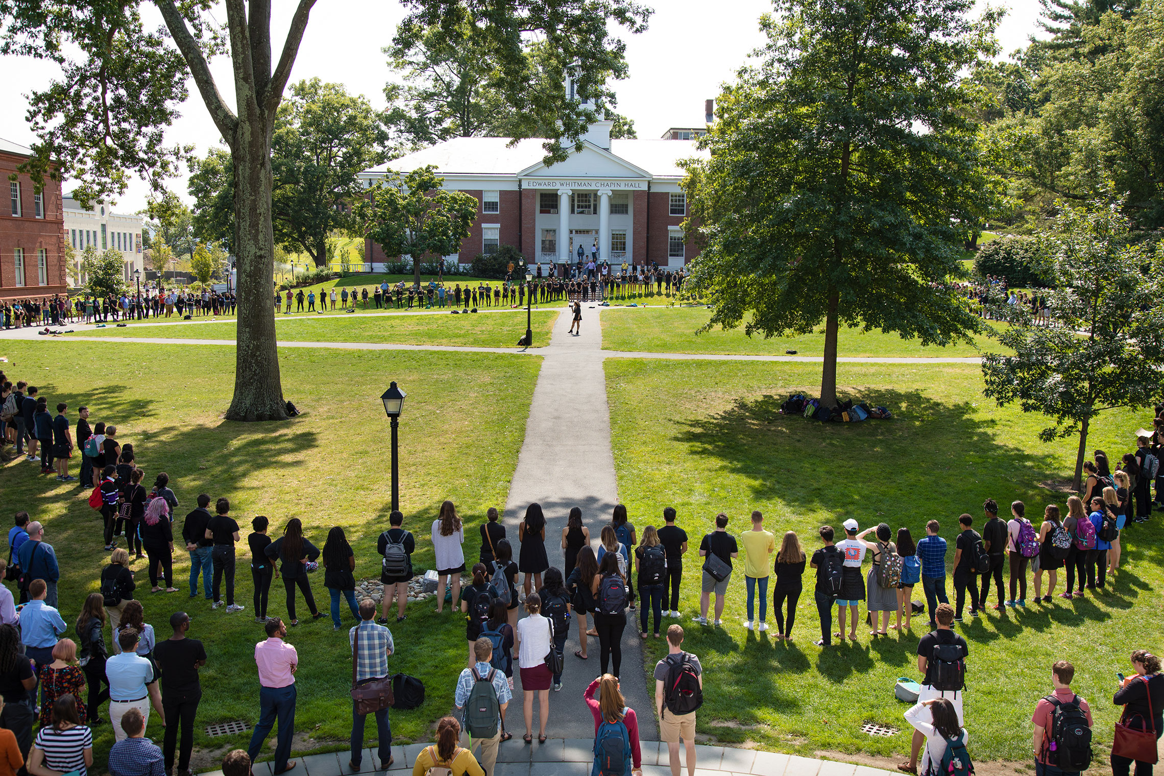 Students gathering on campus.