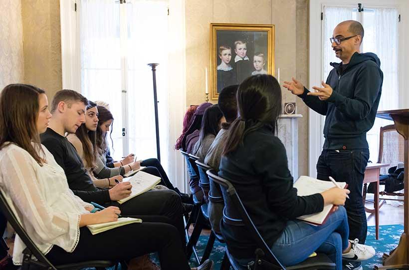 Junot Diaz teaching a Master Class