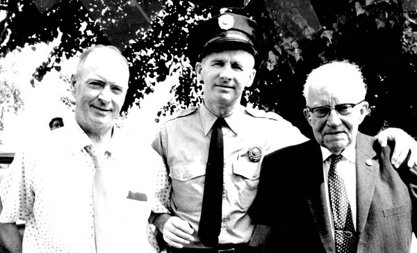 Chief O'Connell, Officer Bill Joy, and Alum, Circa 1960
