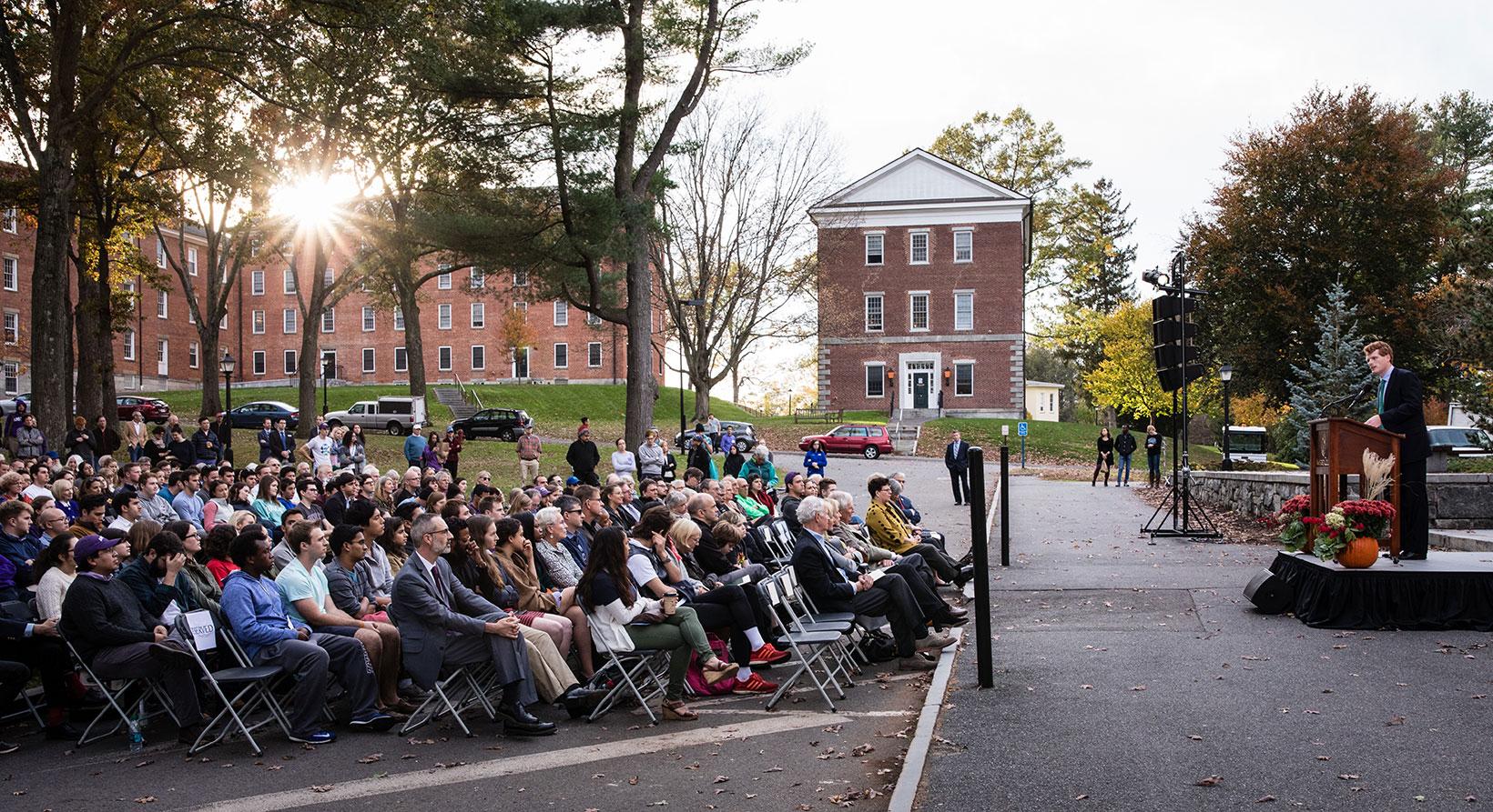 Joseph Kennedy delivering key note address on Oct. 29, 2017