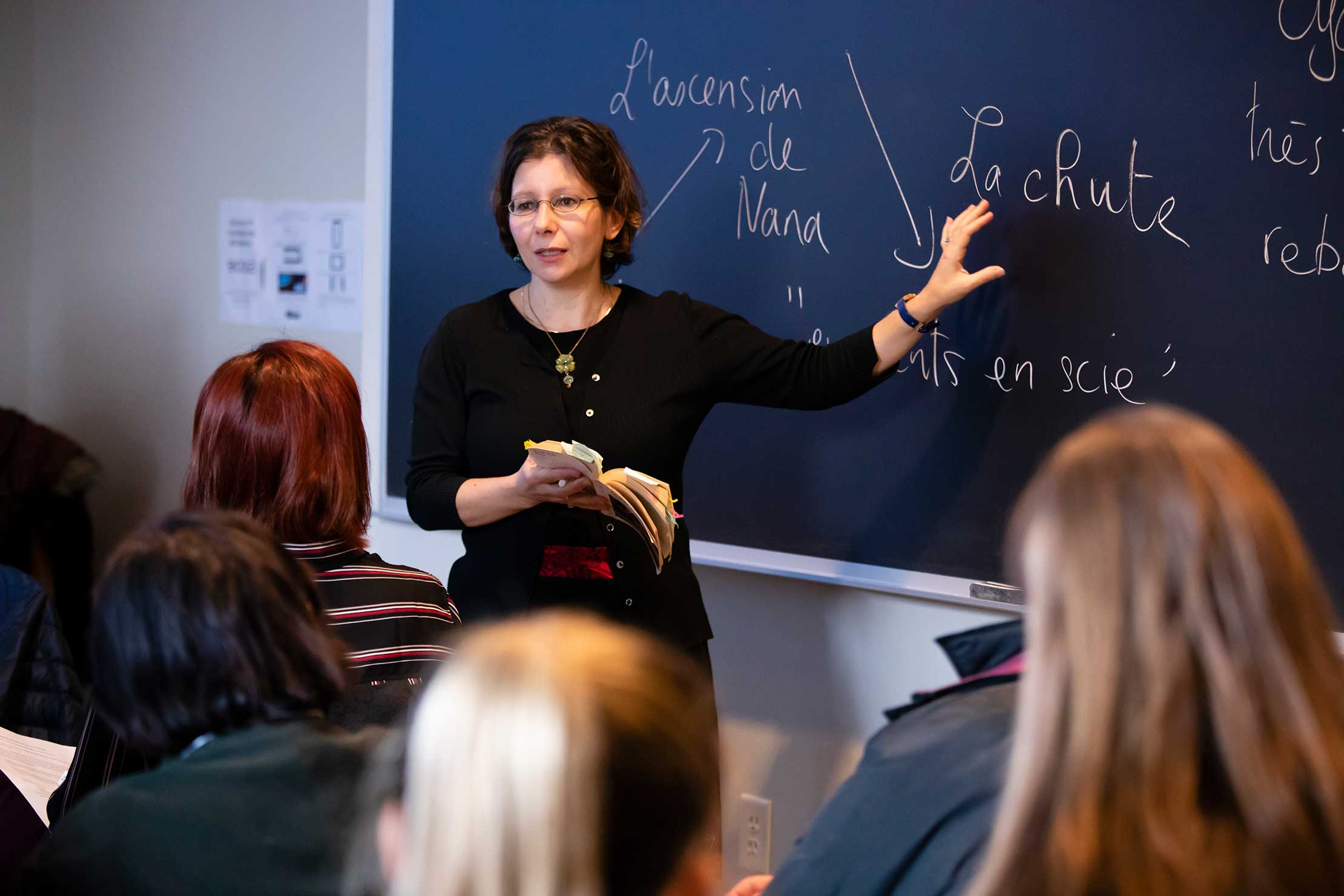 "Professor Laure Katsaros' class, ""Women of Ill Repute,"" was taught entirely in French."