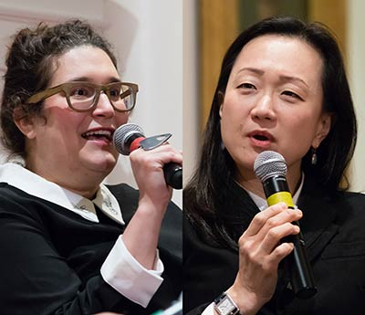 Carmen Maria Machado (left); Min Jin Lee (right)