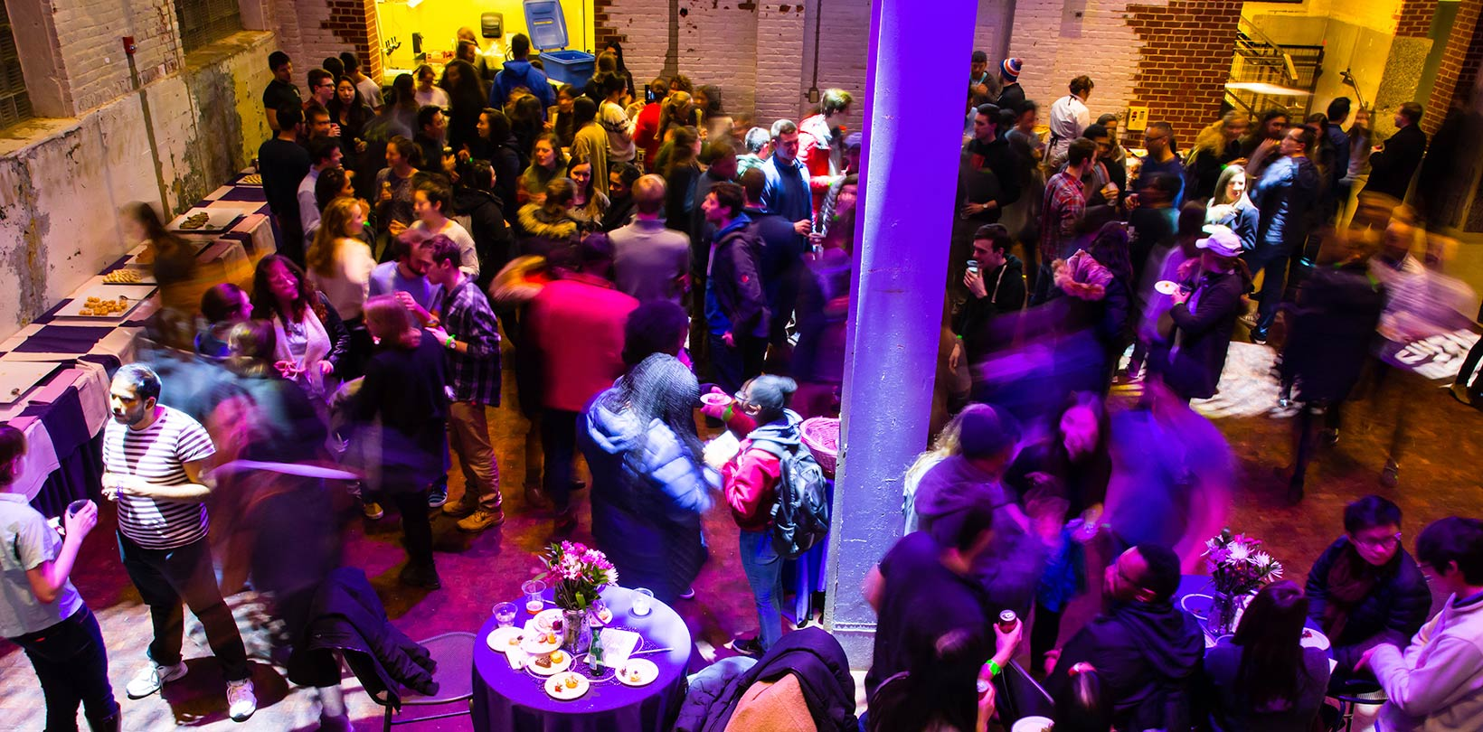 An event taking place in the Powerhouse at Amherst College