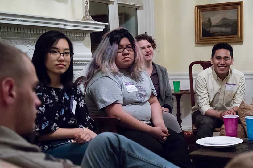 Next-Gen Leadership students listen as one of their colleagues talks.