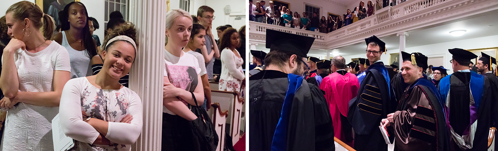 The crowd during the Convocation ceremony in Johnson Chapel