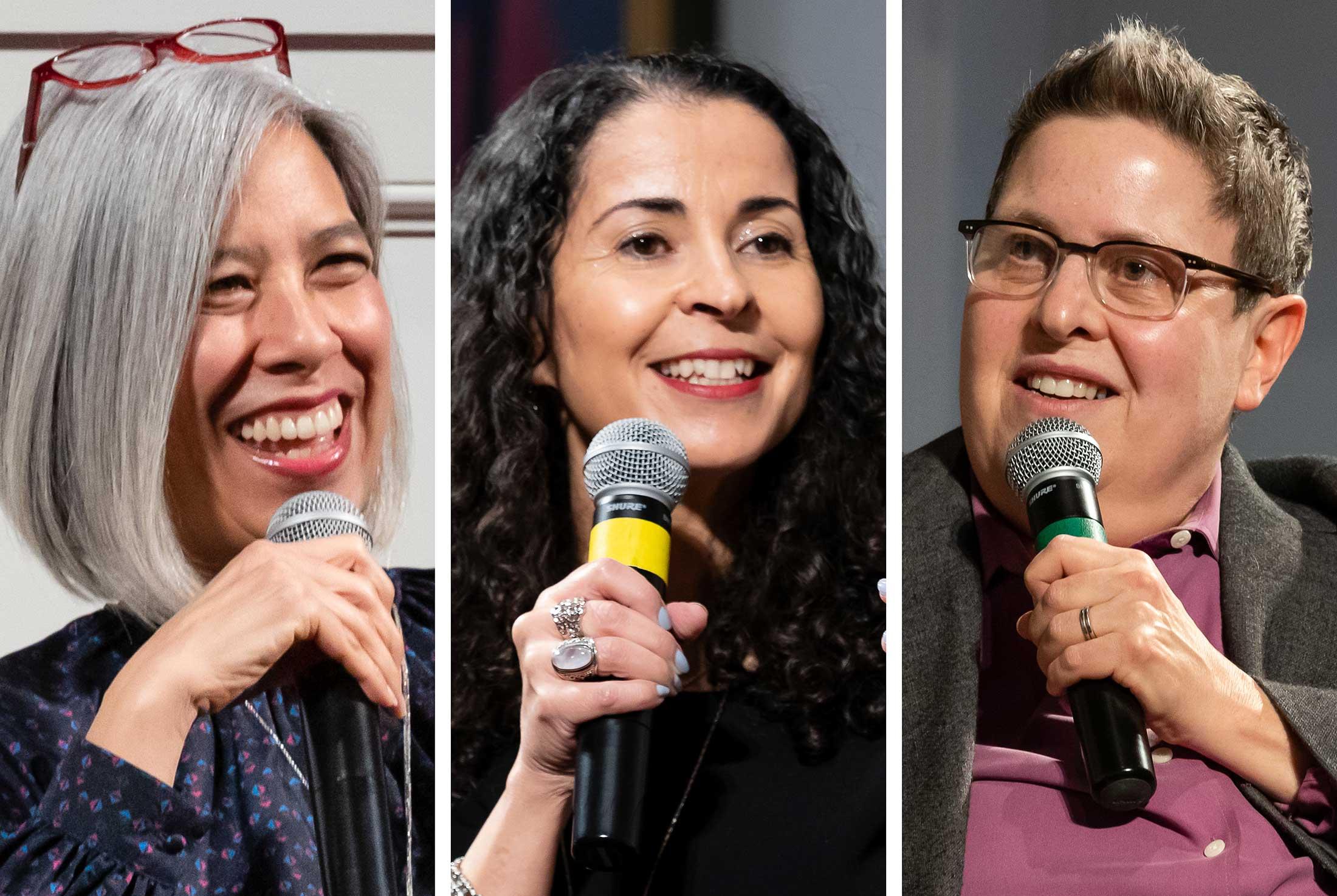 Susan Choi,  Laila Lalami and Judith Frank