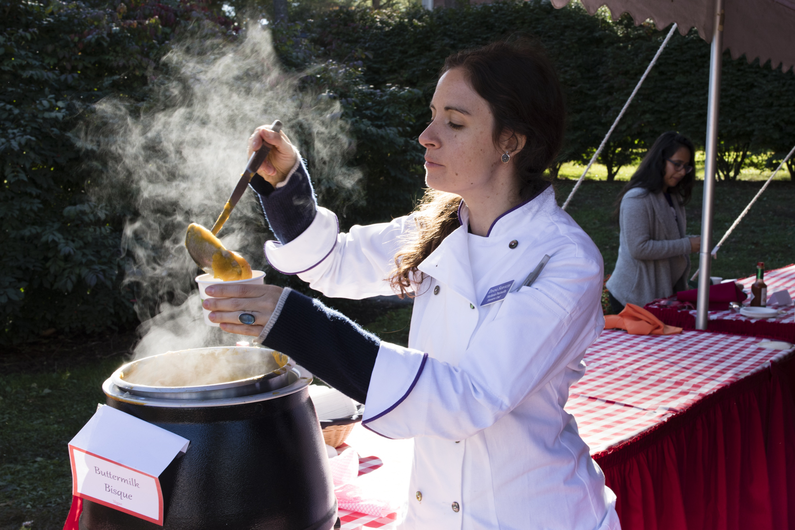 Stefania Patinella, the executive chef with the College's Dining Services