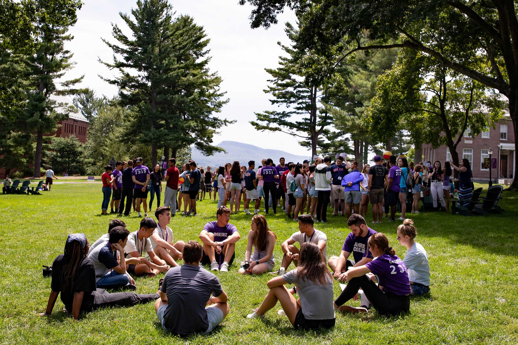 New students break in Squads where they gather in small groups for activities and conversation