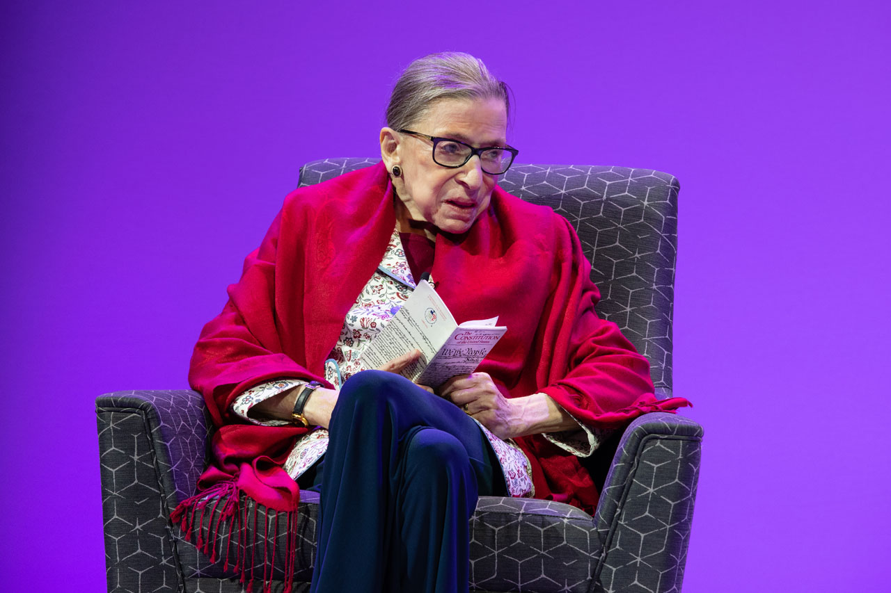 Justice Ruth Bader Ginsburg speaks