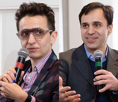 Masha Gessen (left); Keith Gessen (right)