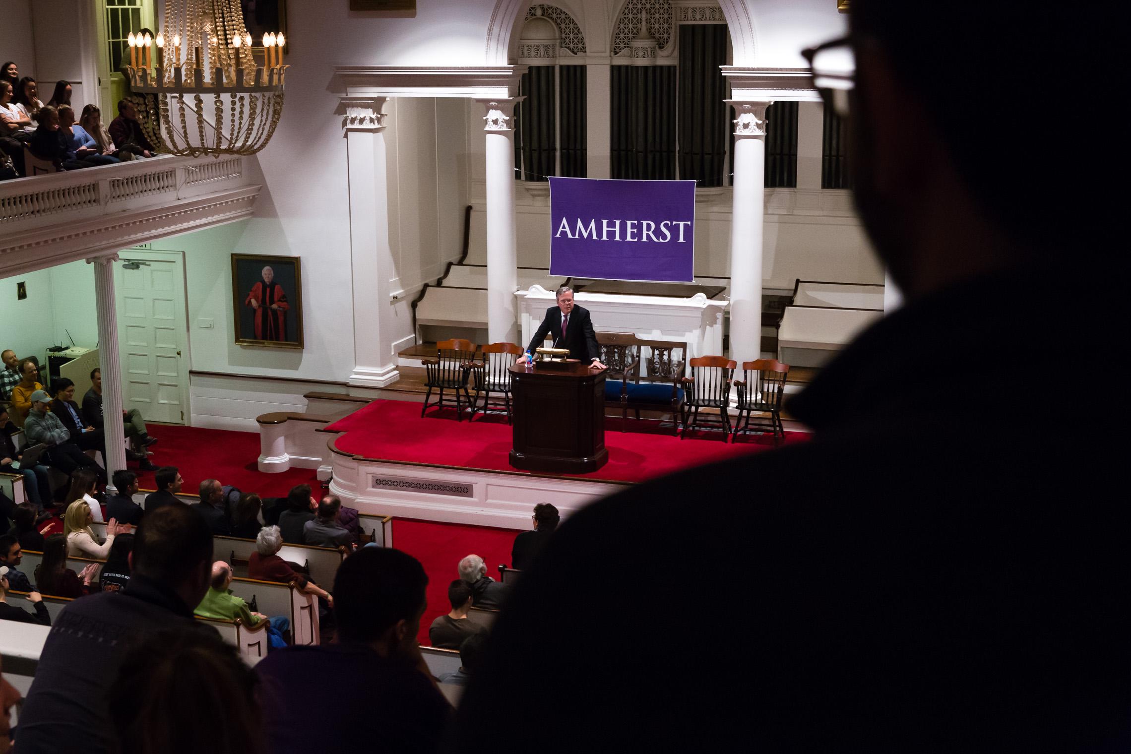 Jeb Bush visits Amherst College