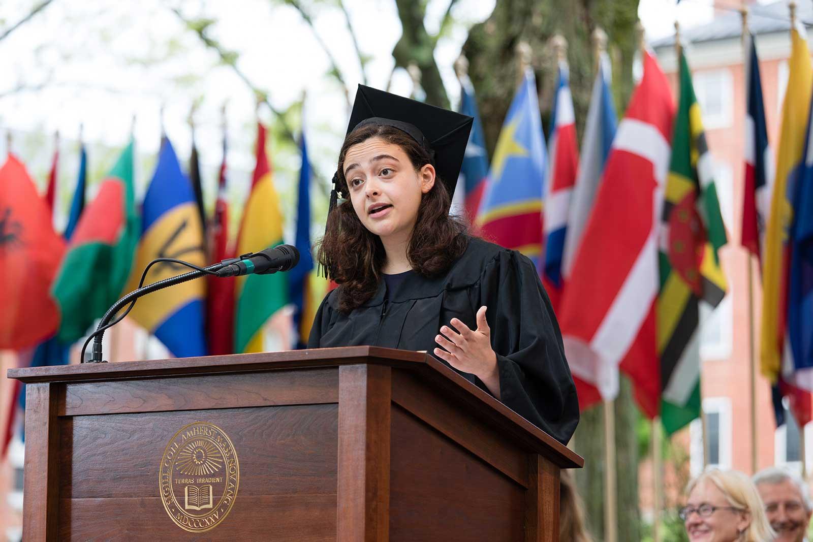 Senior speaker Noor Qasim '18