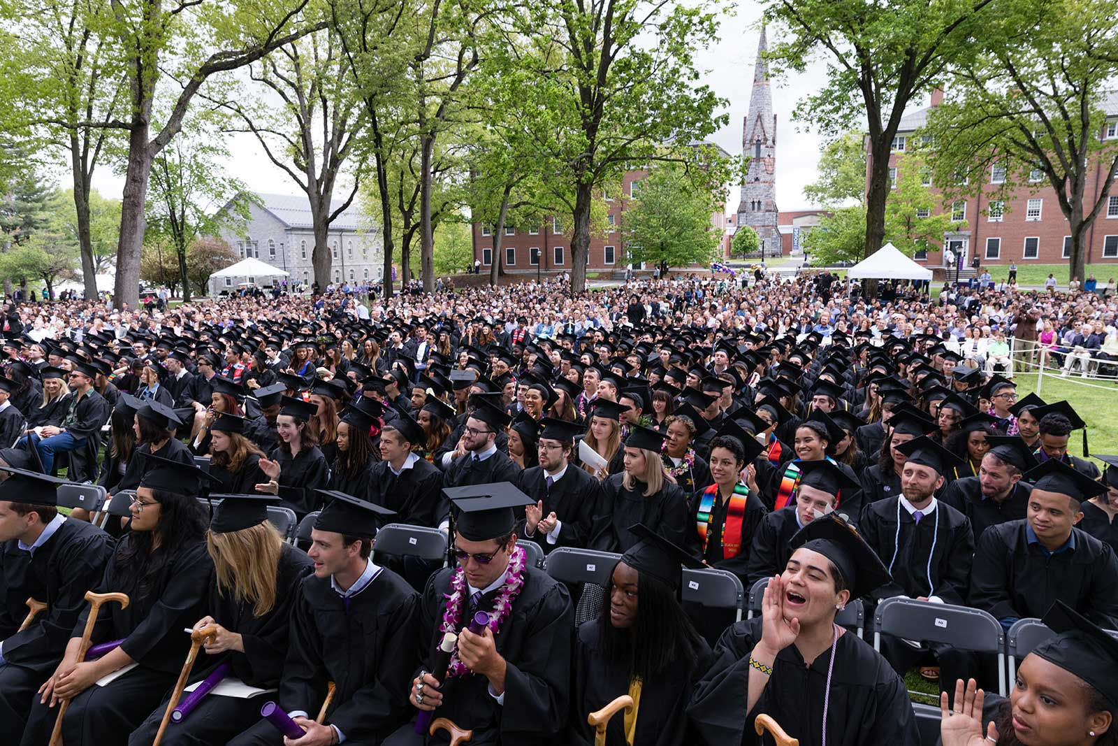 The senior class seated during the Commencement ceremony