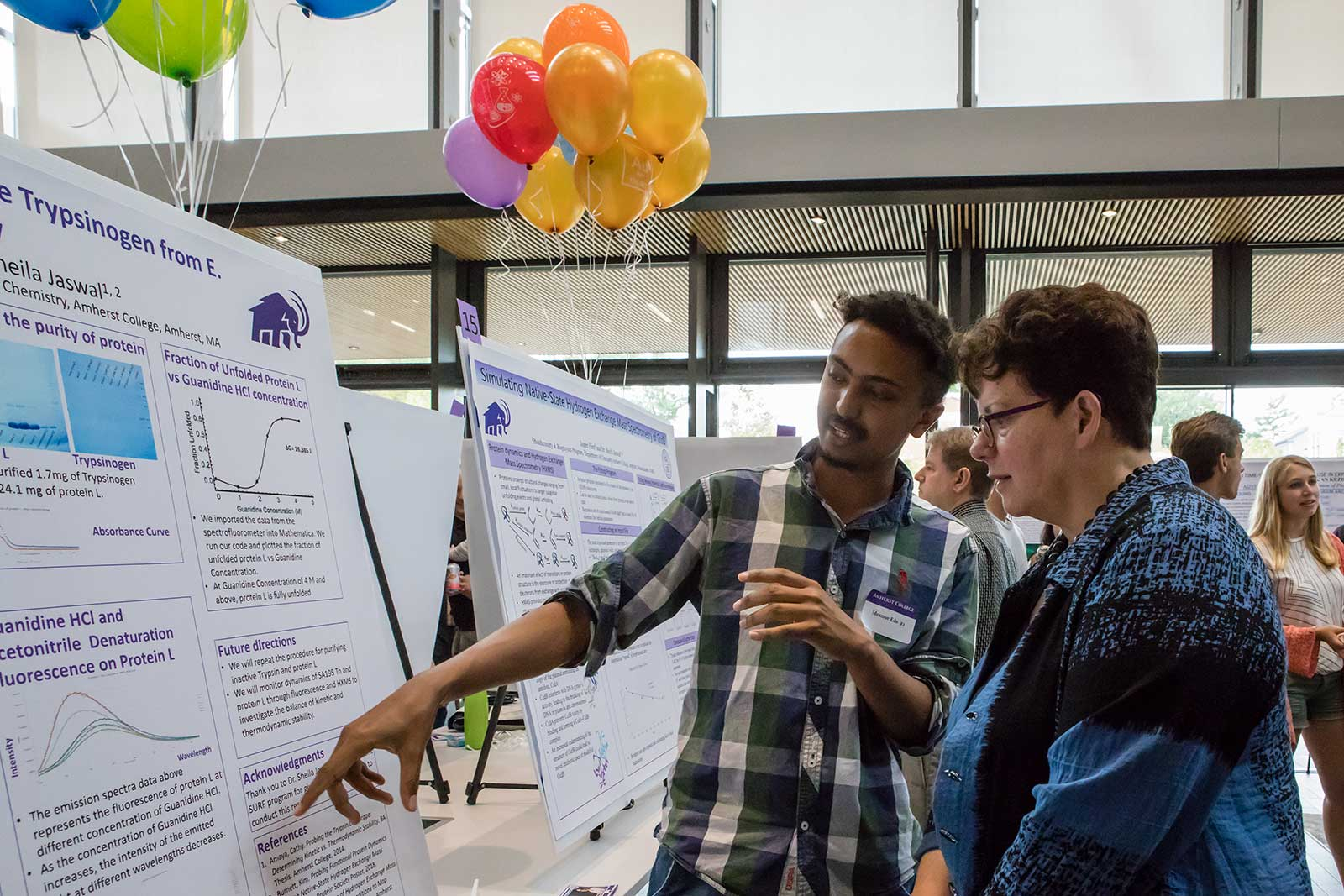 Mezmur Edo '21 at the Summer Research Poster Session