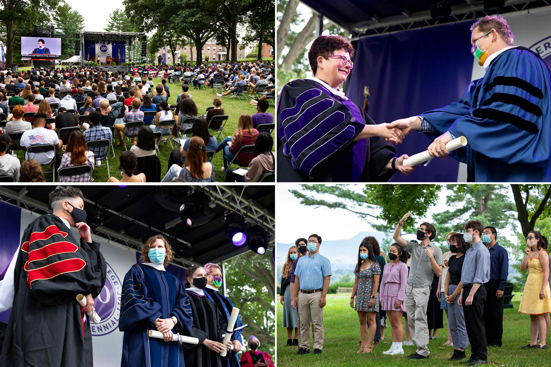 students and faculty meet for convocation 2021