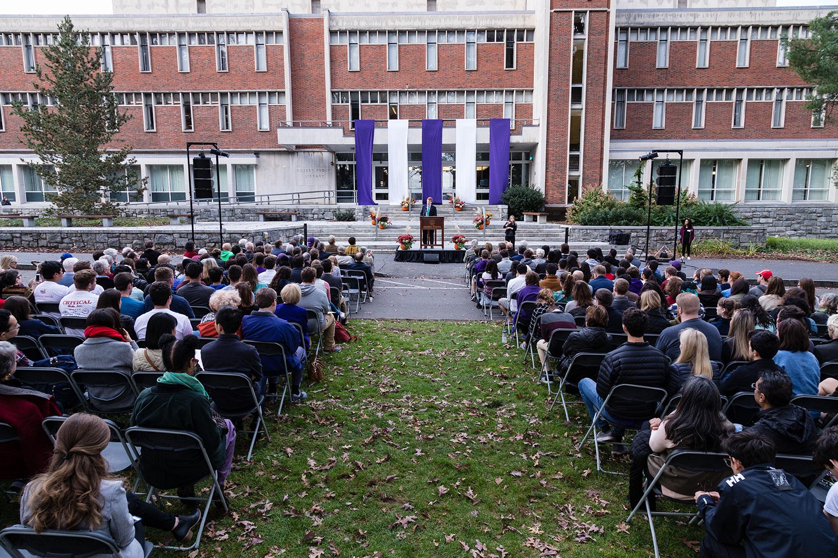 U.S. Rep. Joseph Kennedy III speaking at Amherst College Oct. 29, 2017