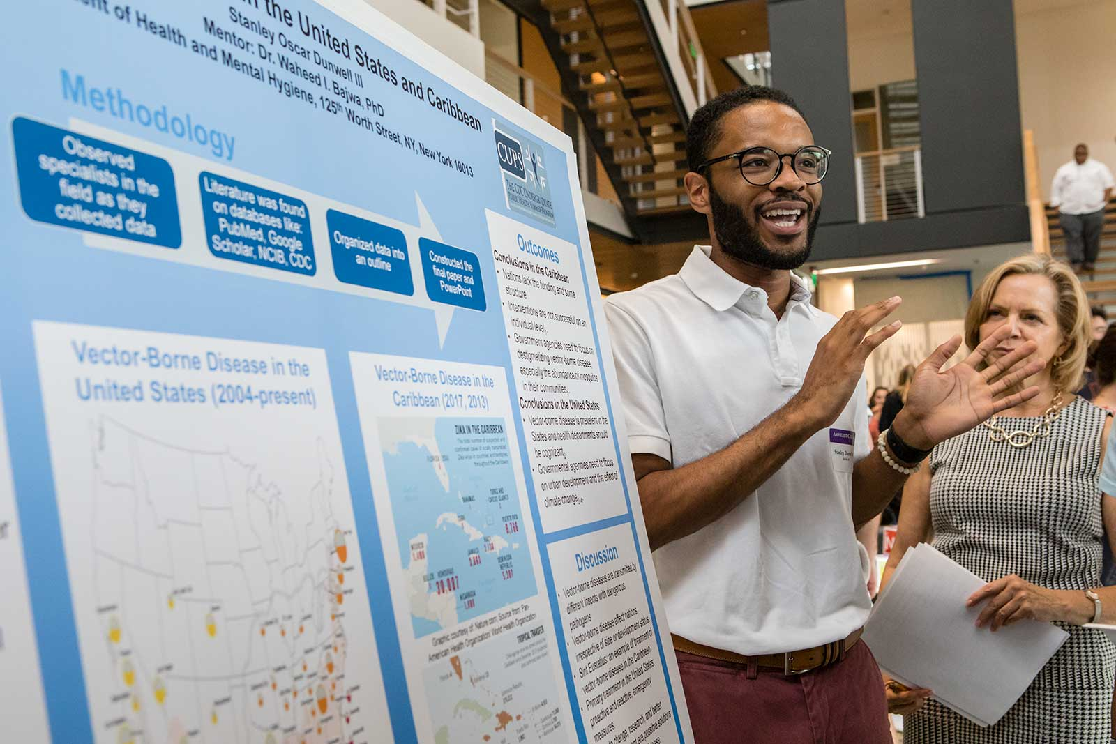 Stanley Dunwell '20 at the Summer Research Poster Session