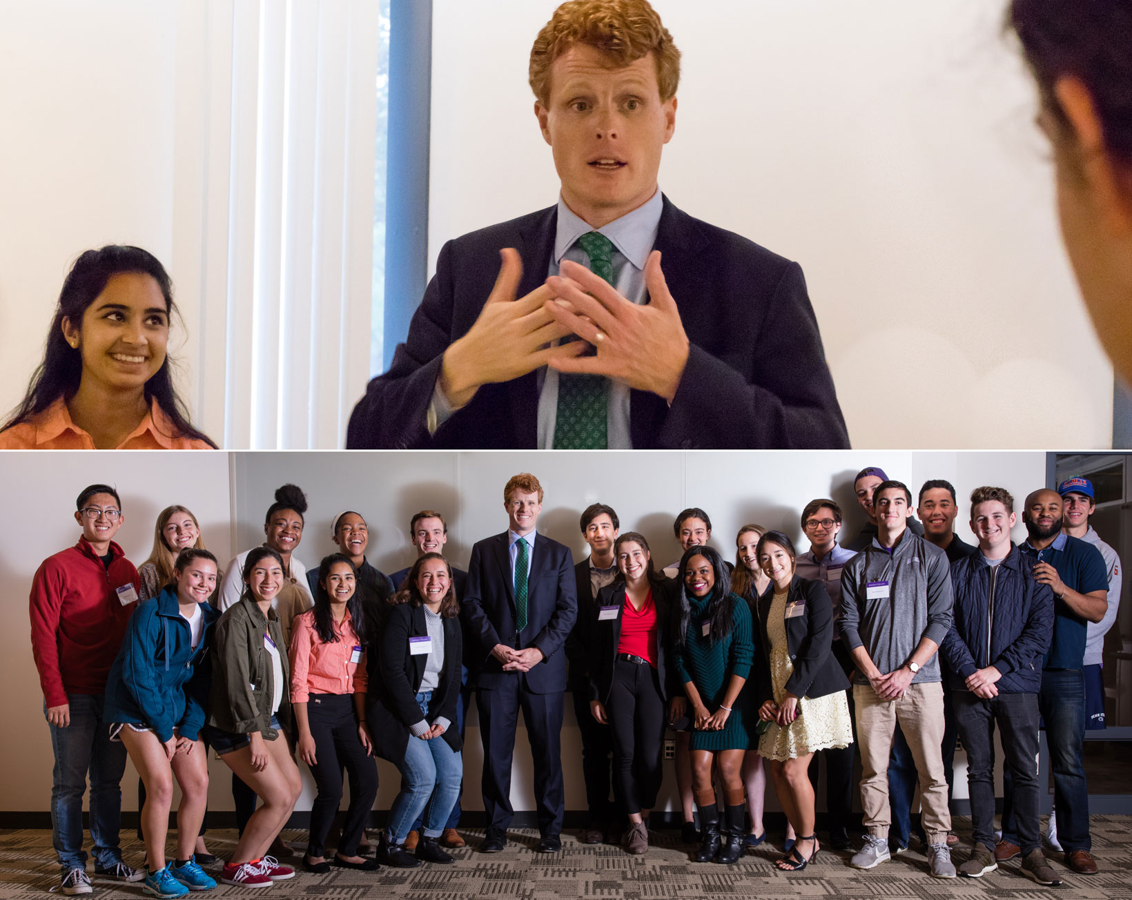 Joseph Kennedy meets with Amherst student.