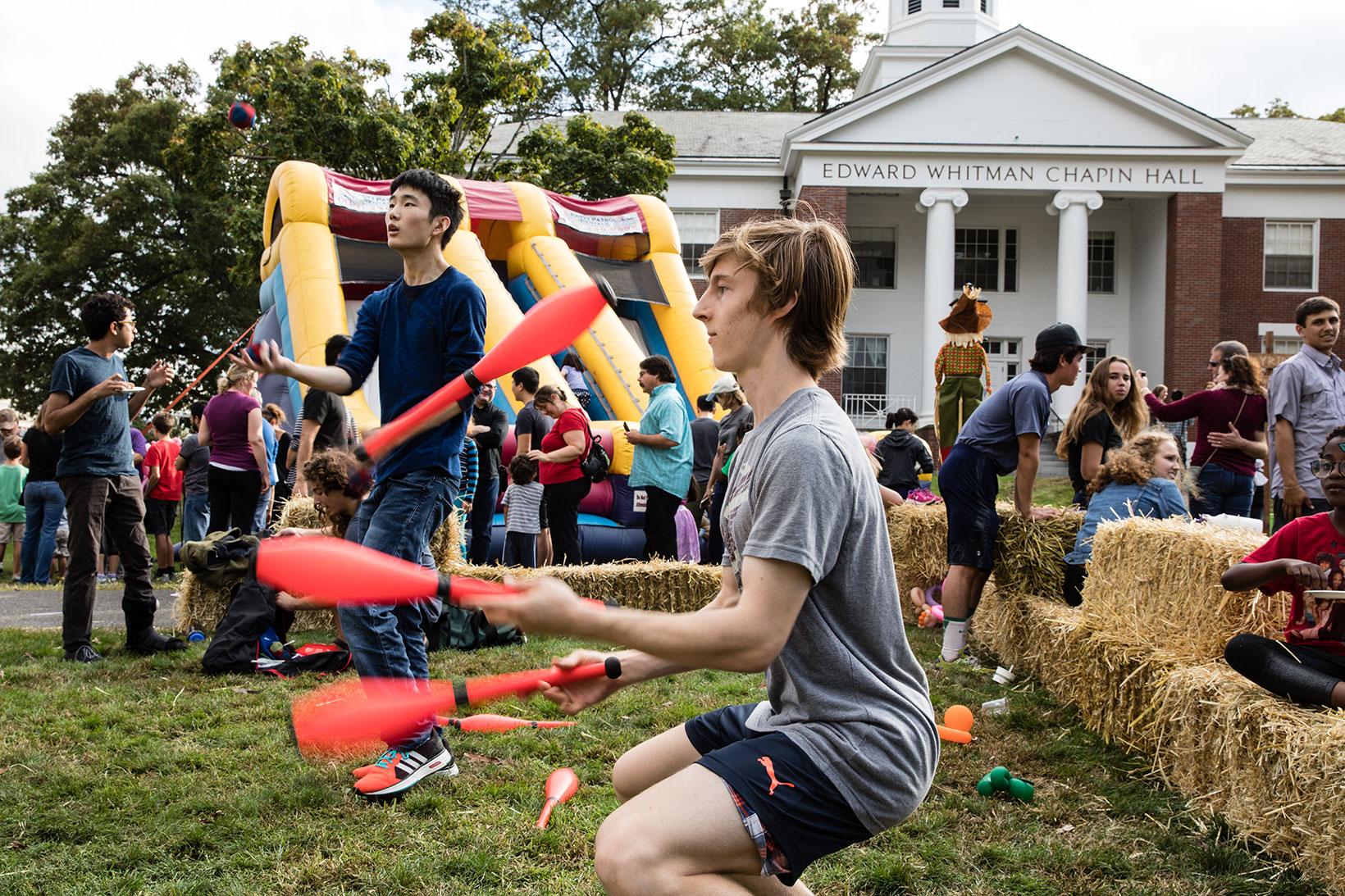 Juggler at the Fall Festival.
