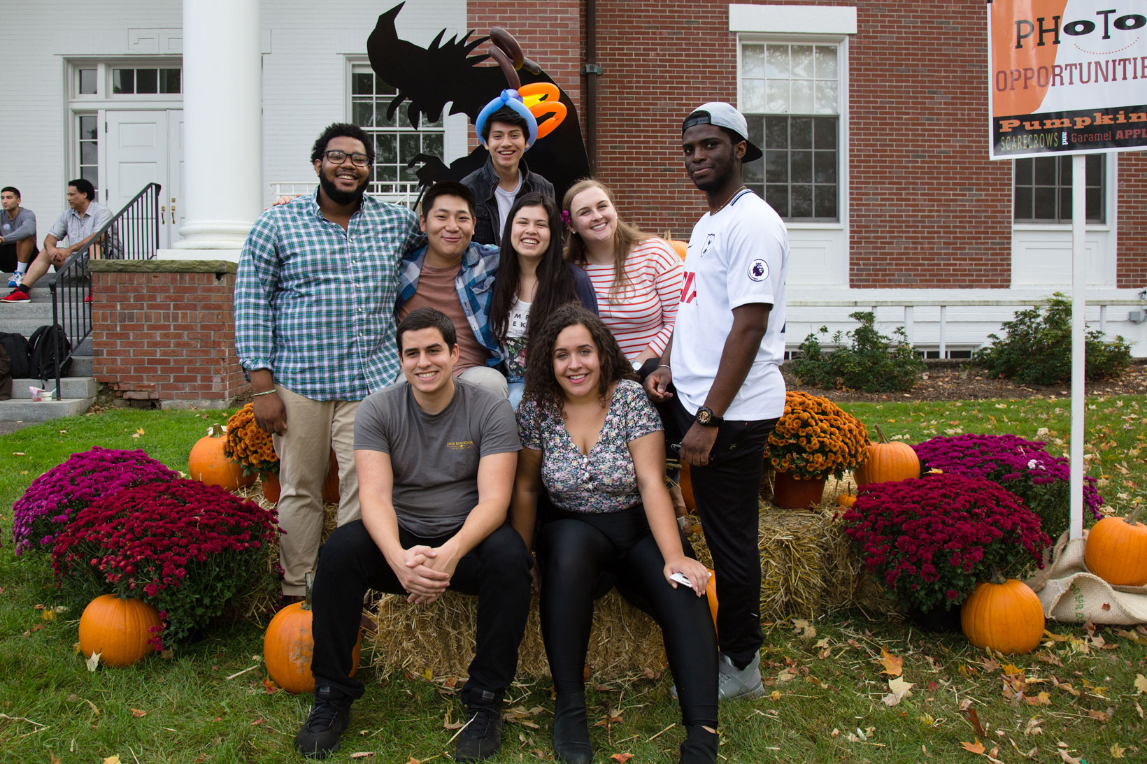 Group of students at the 2017 Fall Festival.