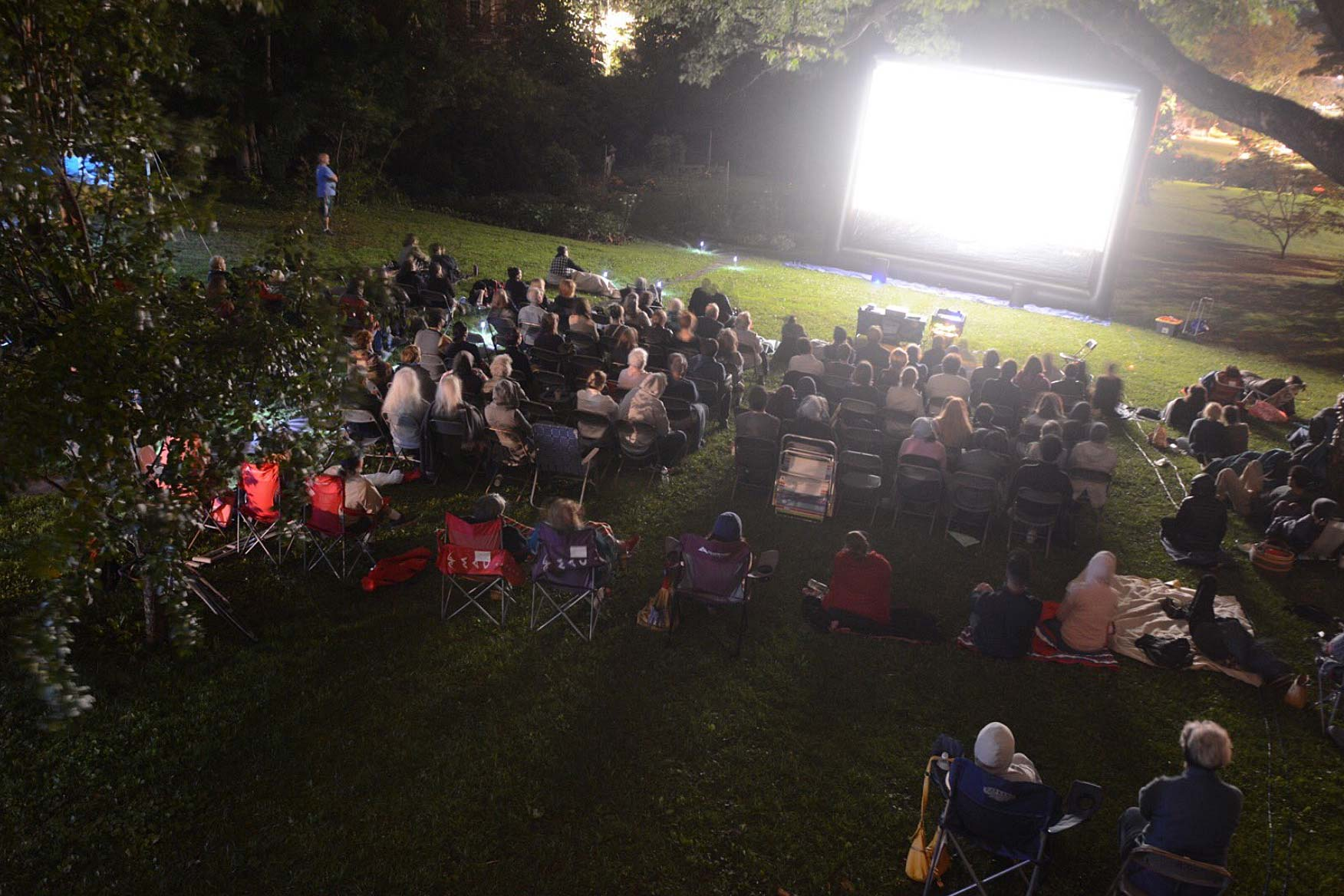 Film screening in the West End Cemetery