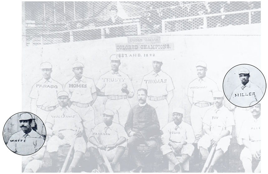 Team photo of the Cuban Giants