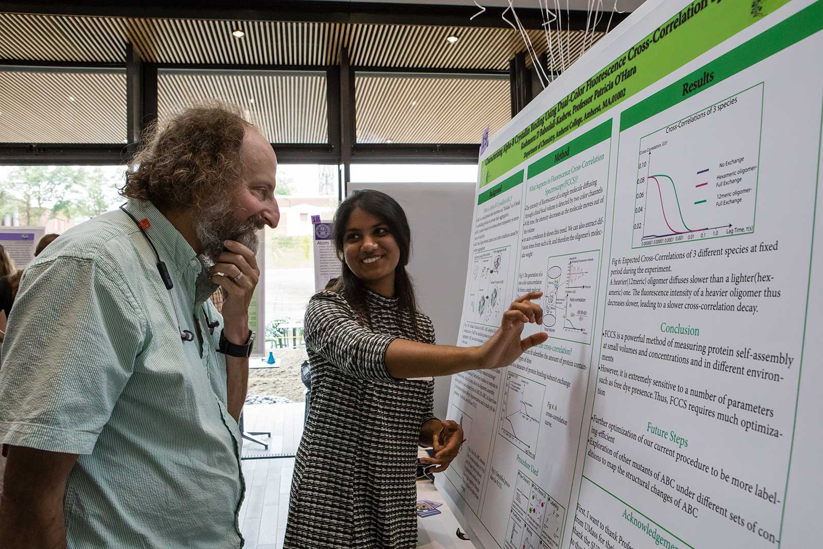Kashmeera Baboolall-Kashew '19 at the Summer Research Poster Session