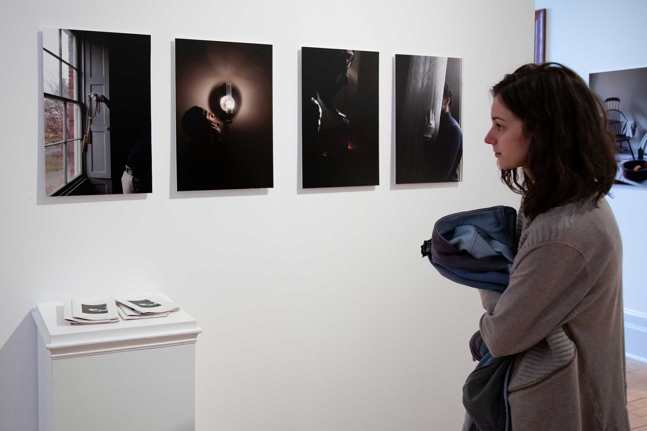 "Images by Jonathan Jackson, left to right: ""Compass,"" ""Pondering,"" ""Speaking Light,"" ""Calling, Listening."""