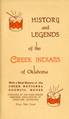 "Cover of ""History and Legends of the Creek Indians of Oklahoma"""