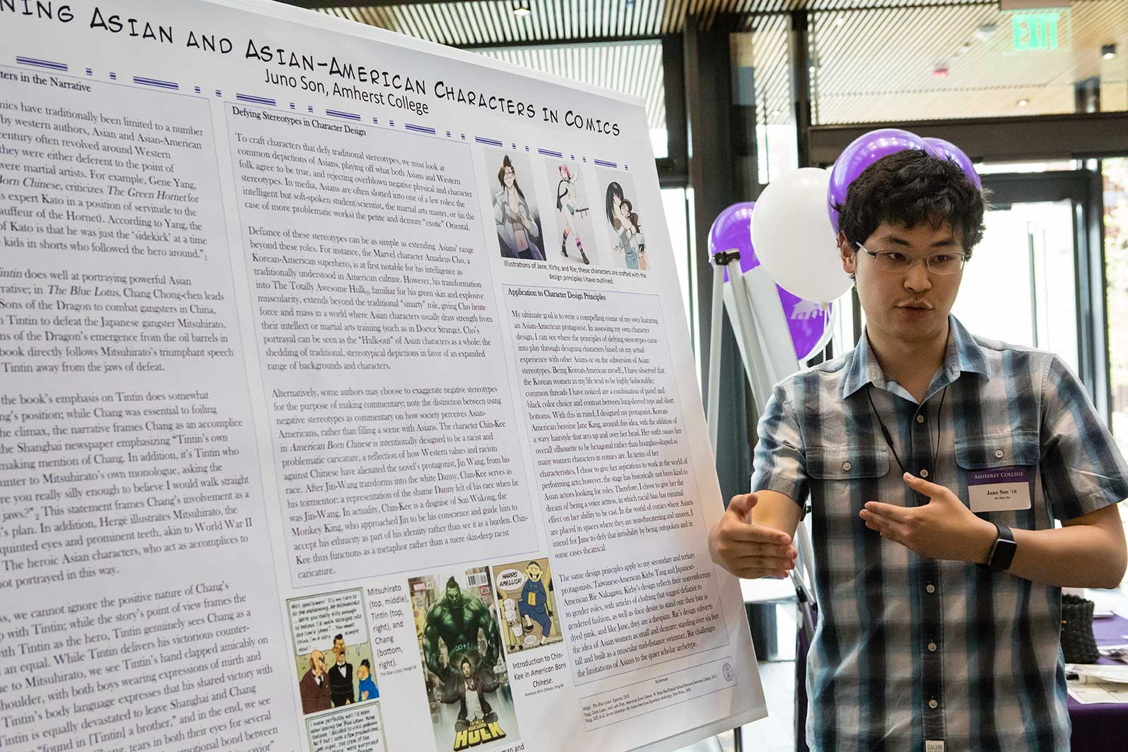 Juno Son '19 at the Summer Research Poster Session