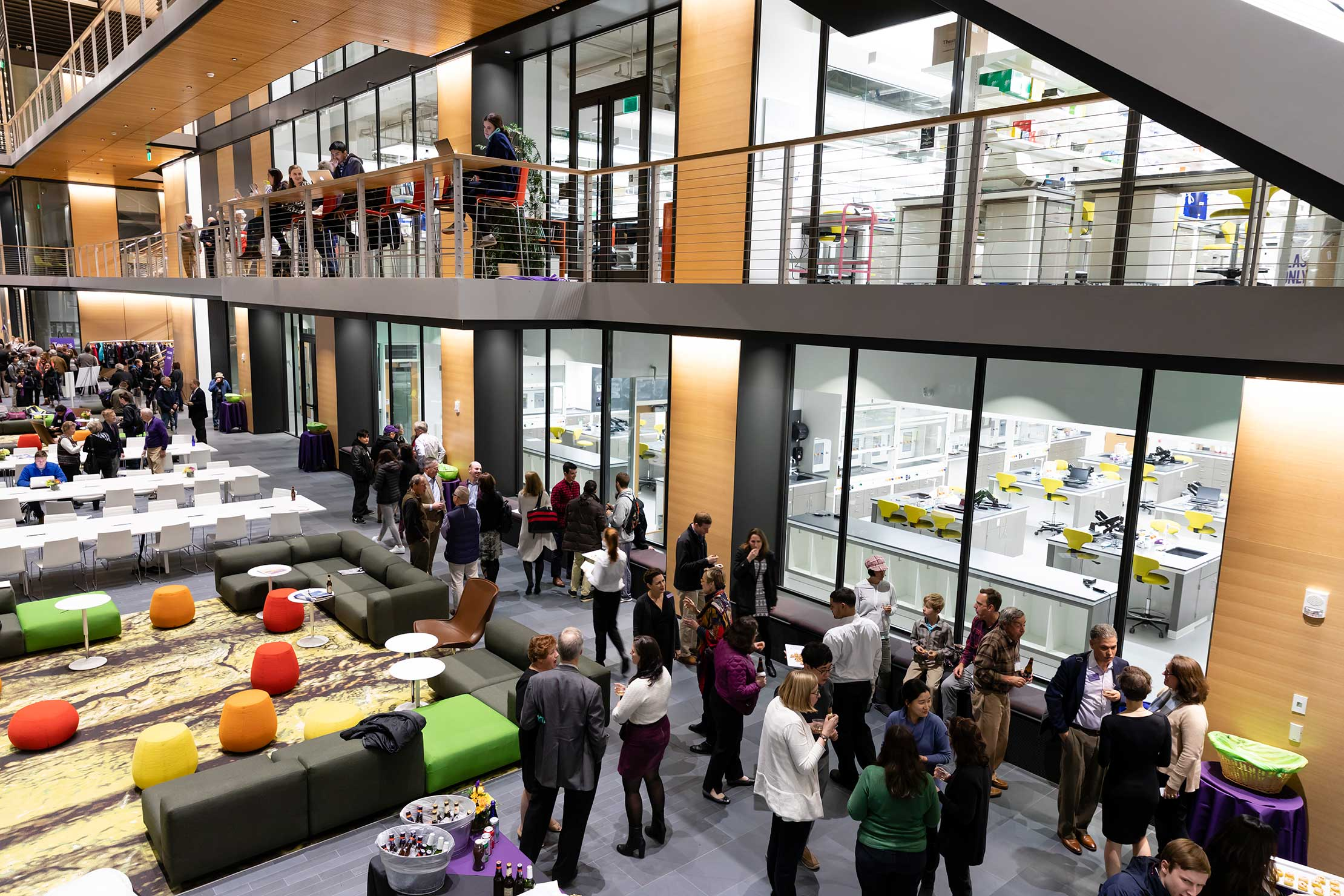 Visitors enjoyed a reception in the new Science Center.