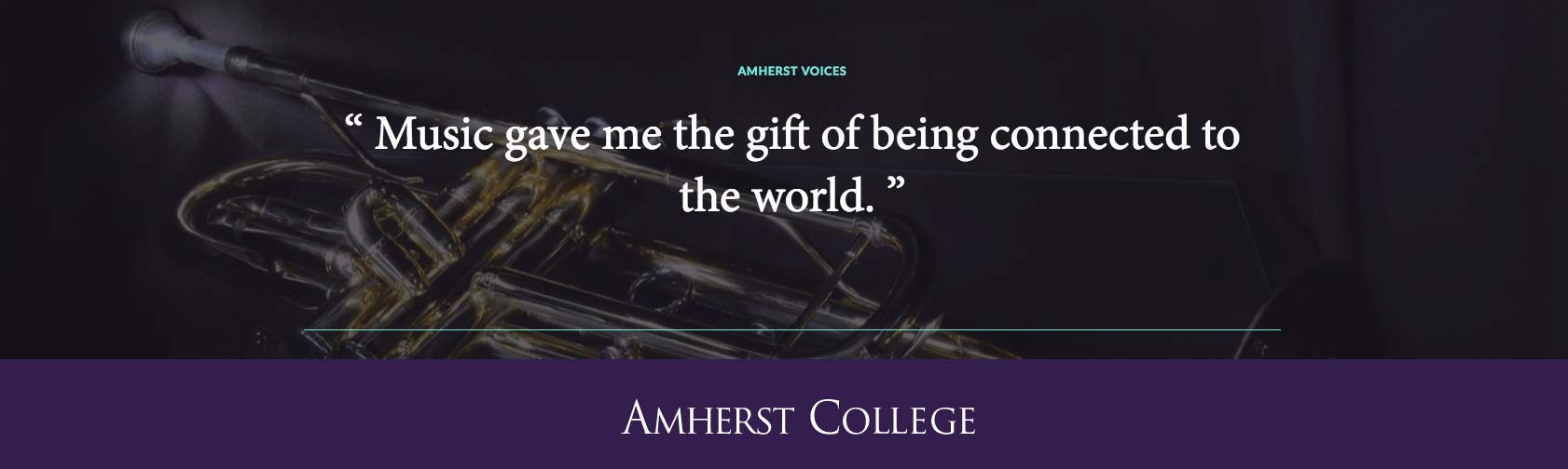 """Music gave me the gift of being connected to the world."" Alex Rodriguez '07"