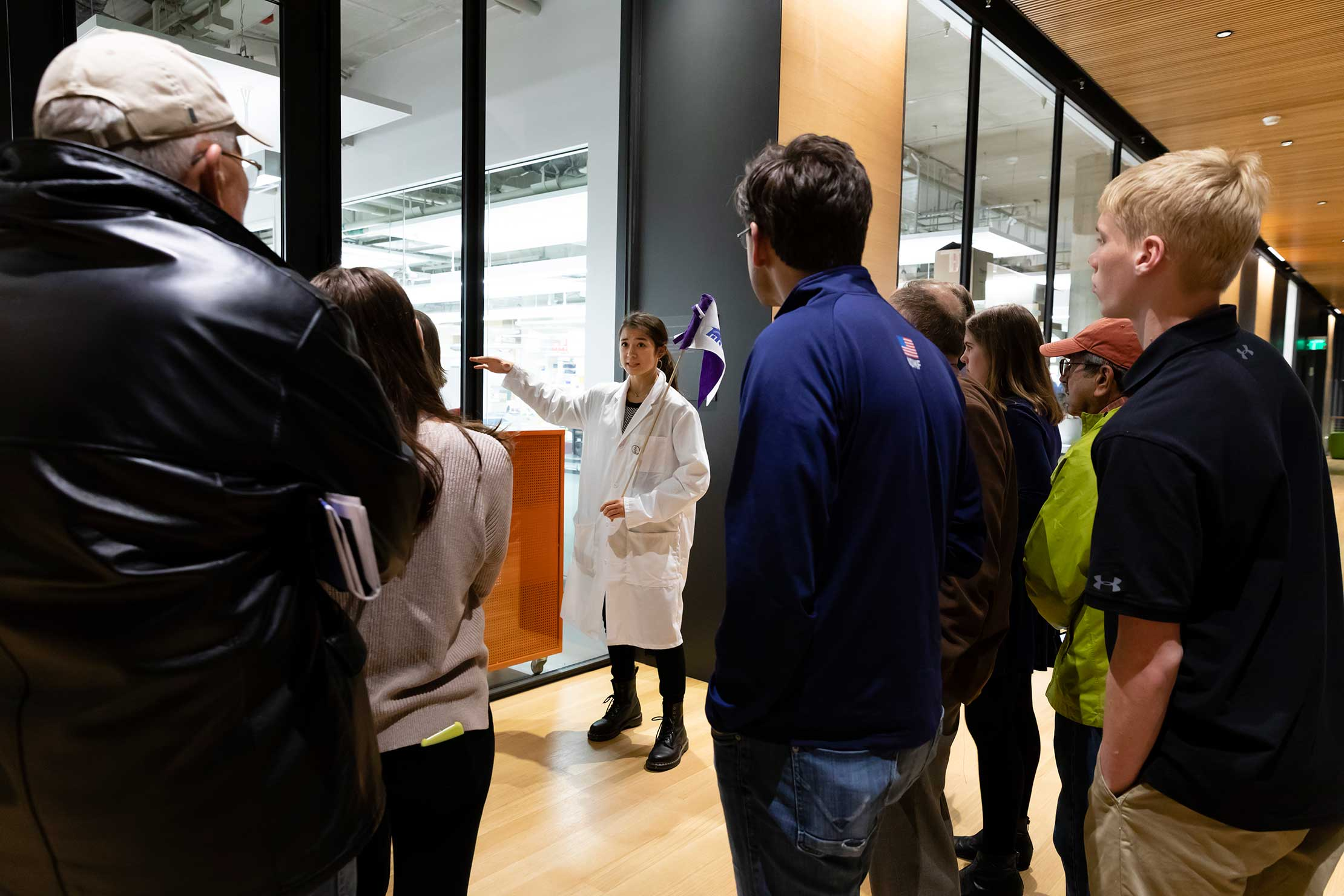 Tours of the new Science Center were a popular activity.