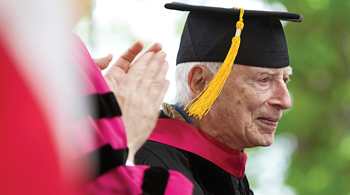 Dr. Arthur J. Ourieff on the Commencement stage