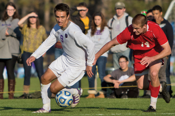 Spencer Noon '13 in a soccer game