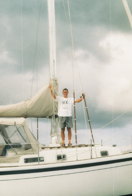 Potter on his boat