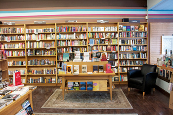 Shelves at [words] Bookstore
