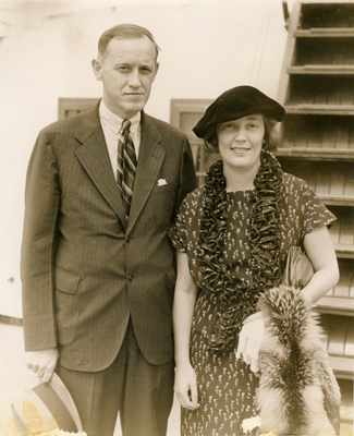 Hopkins and his second wife, Barbara