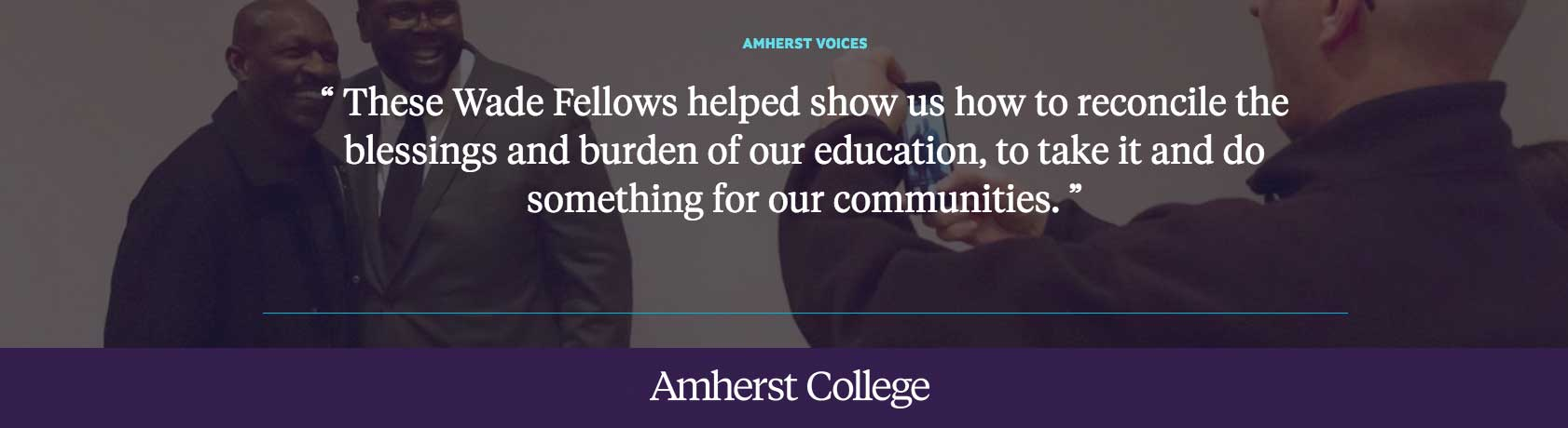Quote by Adrienne White-Faines '82