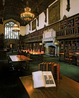 Reading Room in Folger Library