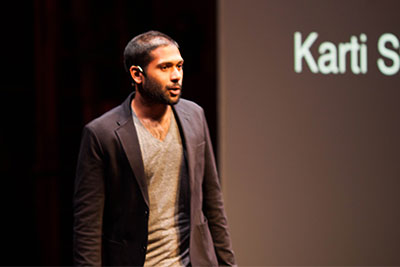 Karti Subramanian '07 speaking