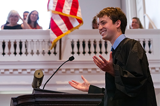 Matthew De Butts '14 at Senior Assembly 2014