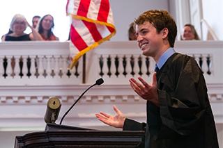 Matthew De Butts '14 at Senior Assembly 2014