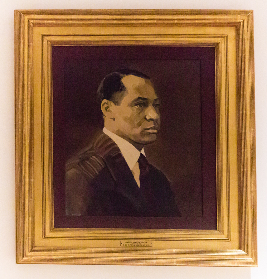 Portrait of Charles Hamilton Houston in a gold-leaf frame